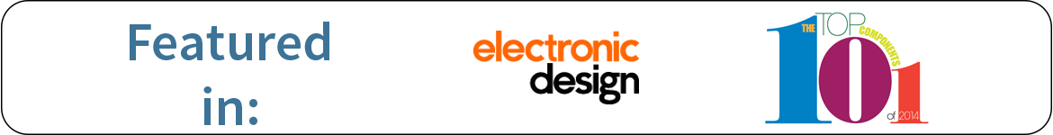 featured in electrical design magazine's top 101 components of 2014