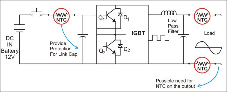 Inrush Current Inverter Circuit