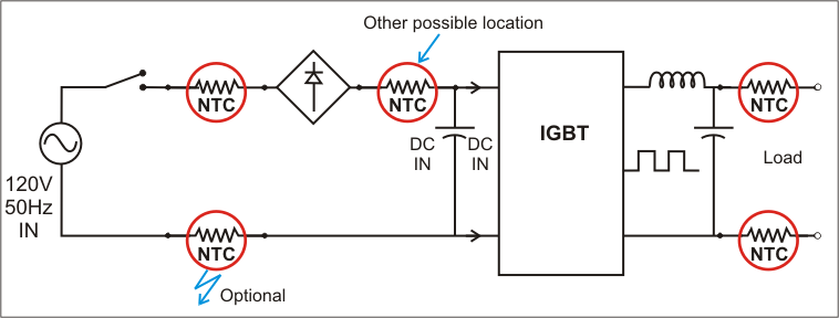 Inrush Current Frequency Changer Schamatic