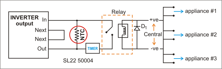 Inrush Current Inverter Schematic