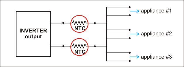 Schematic Classic Inverter Circuits With Ntc Inrush Current Limiters