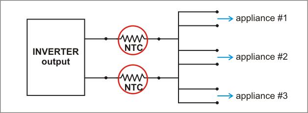 Inrush Current Inverter Schematic