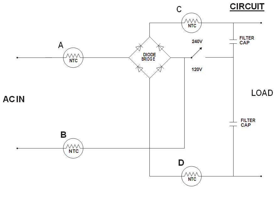 NTC-based limiting circuit
