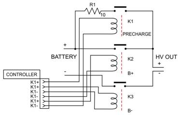 precharge circuitry battery operation timing diagram