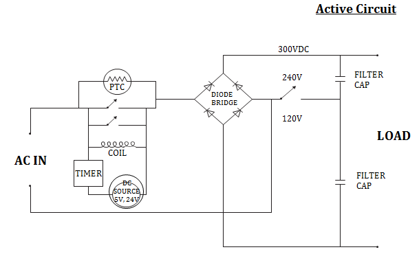 PTC-based limiting circuit