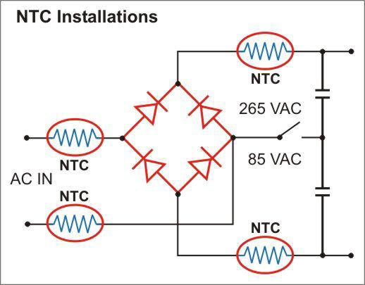 inrush current circuit. How to stop inrush current