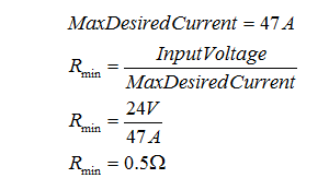 Calculate Maximum Desired Current