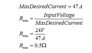 Calculate Maximum Desired Current