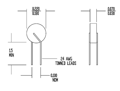 NTC Thermistor 2DB201K Product Information
