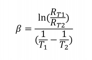 NTC Thermistor Beta Equation