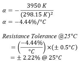 Temperature Coefficient Equation Example
