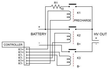 pre-charge circuit for a battery system